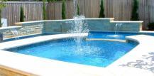 Pool Fountains Waterfalls Backyard Design Ideas