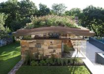 Pool House Curved Living Roof Makes Bold Green