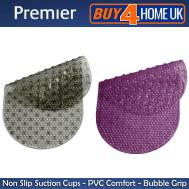 Premier Bath Mat Round Oval Non Slip Suction Pvc