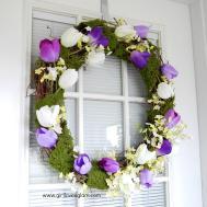 Pretty Spring Tulip Moss Wreath Girl Loves Glam