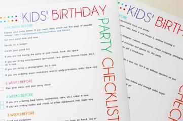 Printable Kids Party Planning Checklist Catch