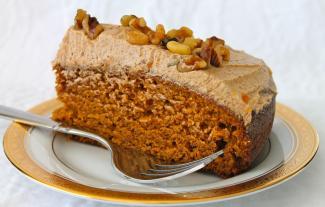 Pumpkin Cake Spiced Buttercream Wine Plum