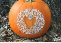 Pumpkin String Art Fall Halloween Diy