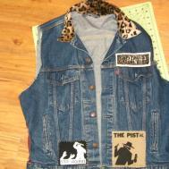 Punk Studded Vest Battle Jacket Diy Pist