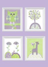 Purple Green Nursery Decor