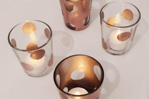 Quick Easy Diy Copper Polkadot Tea Light Holders
