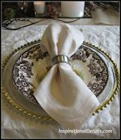 Quick Easy Thanksgiving Tablescape Inspirational Details