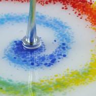 Rainbow Cake Stand Rachel Bower Fused Glass Design