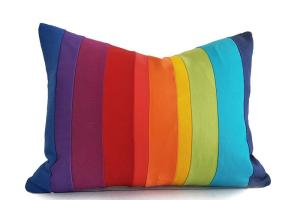 Rainbow Pillow Cover Colorful Striped Throw Pillows Color