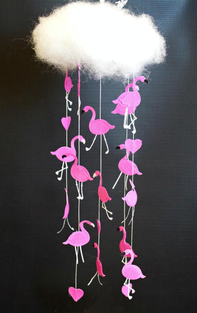 Raining Flamingos Diy Mobile Tutorial Morena Corner