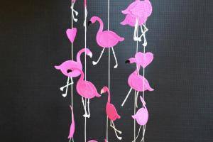 Raining Flamingos Diy Mobile Tutorial Morena Corner
