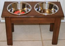 Raised Elevated Dog Food Dish Bowl Large Stand New Feeder