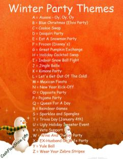 Read List Find Winter Party Theme Your Event