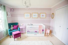 Readers Favorite Purple Teal Mauve Nursery