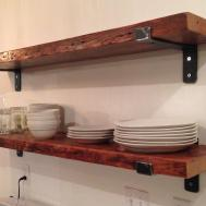 Reclaimed Wood Kitchen Shelves 2017 Renew Remodel