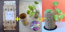 Recycled Cardboard Vase Lakshmim Lakshmi