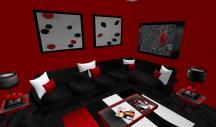 Red Black Living Room Peenmedia