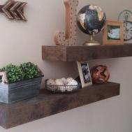 Refined Rustic Floating Shelves Hometalk