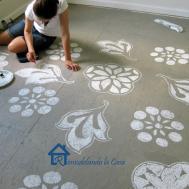Remodelando Casa Diy Painted Designs Floor