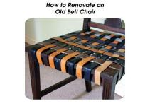 Renovate Old Belt Chair
