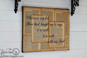 Repurposed Book Canvas Hymn Art Knick Time