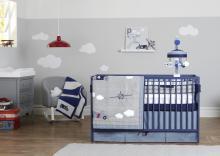Retro Ride Crib Liner Fresh Air Nursery Bedding