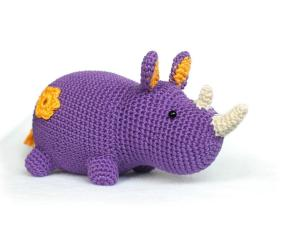 Rhino Amigurumi Crochet Pattern Diy Fluffies Craftsy