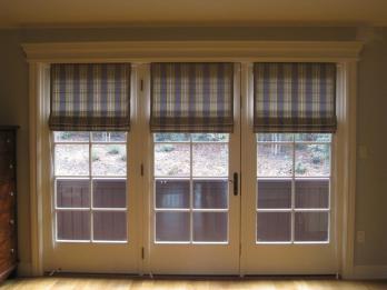 Roller Doors Interior French Door Roman Shade Window