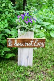 Romantic Country Living Diy Rustic Bible Verse Flower