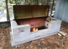 Rotisserie Bbq Pit Cinder Block Furniture Easy Diy
