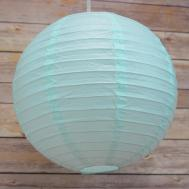 Round Paper Lantern Even Ribbing Hanging Light