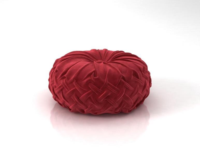 Round Pintuck Pillow Model