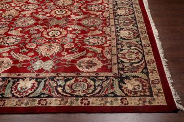 Rugsville Traditional Wool Red Black Rug