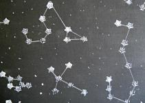 Running Glue Gun Star Constellation Wall Art Diy