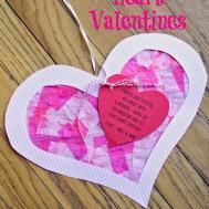 Running Law Diy Valentine Heart Suncatchers