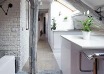 Rustic Modern Attic Apartment Renovation Oozes Parisian