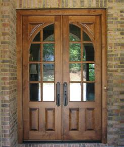 Rustic Modern House Design Double Oak Wooden Door