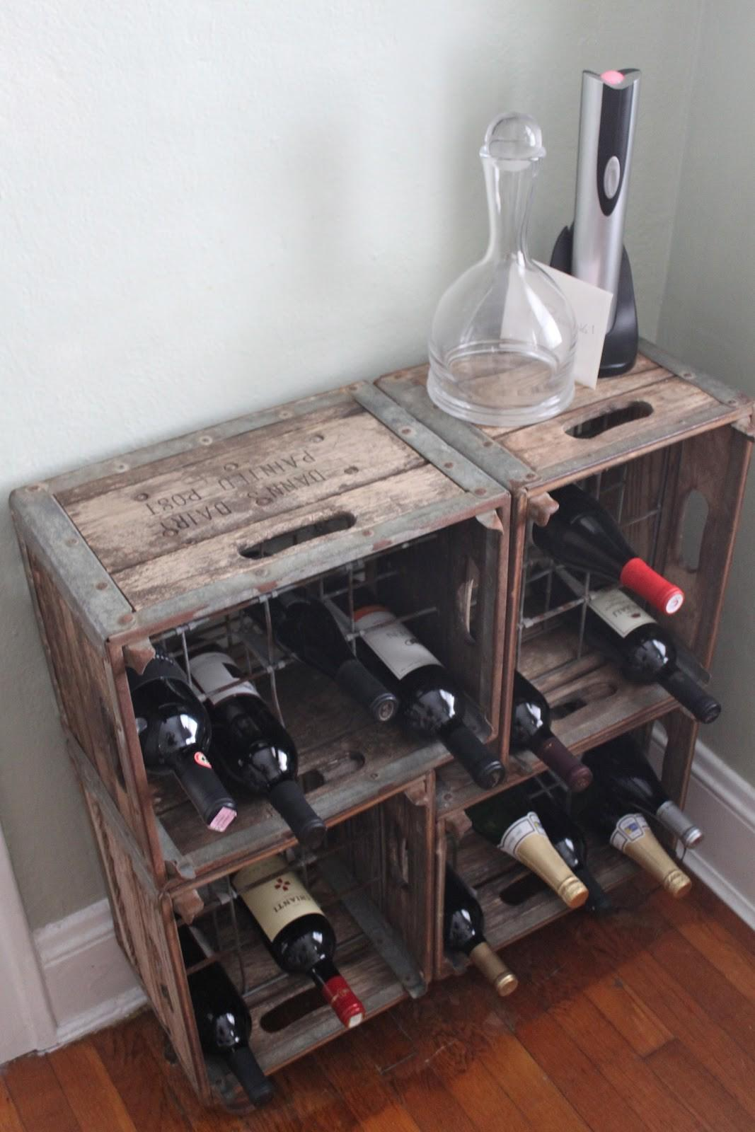 rustic style diy homemade wine rack