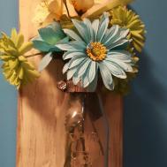 Rustic Wallhung Milk Bottle Flower Vase Diy Home