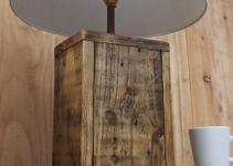 Rustic Wood Lamp Base Made Reclaimed Pallet