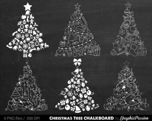 Sale Christmas Tree Digital Clipart Xmas Clip
