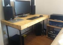 Saving Small Spaces Custom Diy Butcher Block Computer