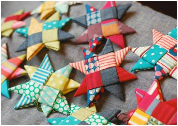 Scandinavian Fabric Stars Crafting Rainbow
