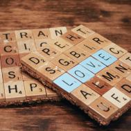 Scrabble Coaster Diy Its Mishaps Flat Broke Bride