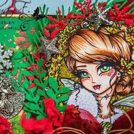 Scrap Lanak Ganbaran Holly Wreath Fairy Hannah Lynn