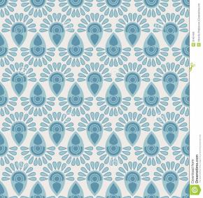 Seamless Floral Pattern Geometric Stylized Flowers
