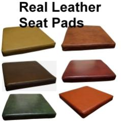 Seat Cushions 100 Real Genuine Italian Leather Pads