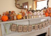 Second Street Thanksgiving Mantel Other Decor