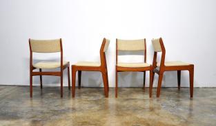 Select Modern Set Danish Teak Dining Chairs