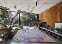 Sensationally Sculptural Daring Lounge Glazed Roof